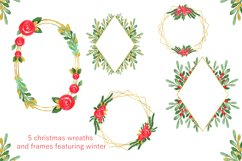 Watercolor Floral Frames Card Borders Backgrounds,Clipart Product Image 2