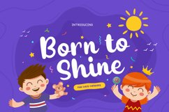 Born to Shine - Cute Baby Font Product Image 1