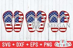 Fourth of July SVG | Flag Flip Flops Product Image 1