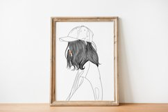 Art Print   Woman wearing a hat that has a modern style Product Image 4