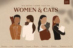 Women & cats. Abstract collection Product Image 1