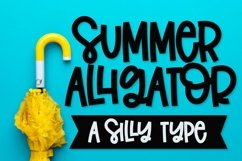 Summer Alligator - A Clean Craft Friendly Type! Product Image 1