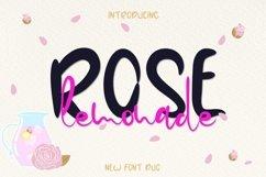 Web Font Rose Lemonade Product Image 1