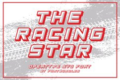 The Racing Star - SVG Font Product Image 1