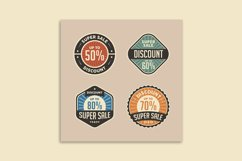 Retro Sale Discount Poster and Badge Product Image 2
