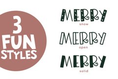 Merry Merry - A Fun Handwritten Font in Three Styles! Product Image 6