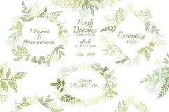 Hand drawn Leaves Branches & Herbs Fresh Doodle collection Product Image 5