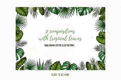 Tropical Vibes. Sketch vectors Product Image 4
