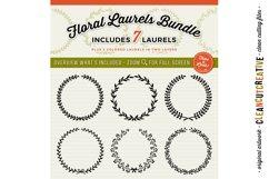 FLORAL MEGA BUNDLE 30 wreath, laurel, heart leaf frames SVG Product Image 5