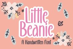 Web Font Little Beanie - Handwritten Font Product Image 1