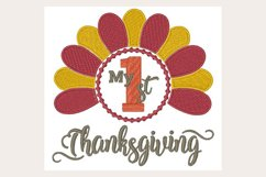My 1St Thanksgiving - Machine Embroidery Design Product Image 1