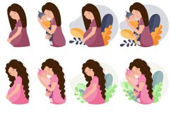 Mom and baby, mom's day clipart, png. eps. Product Image 2