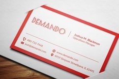 Black and Red Business Card Product Image 6