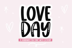 Love Day - Cute Handwritten Font with Valentine Doodles! Product Image 1
