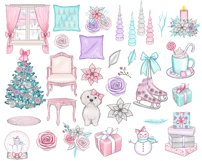 Winter Wishes - pink Christmas clipart collection Product Image 3