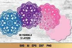 Mandala SVG 3d Layered | Multi Layer SVG | Floral Cut File Product Image 2