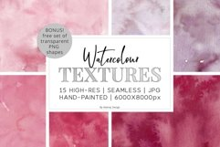 15 Huge Seamless Pink & Grey Watercolor Textures Product Image 1