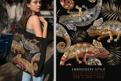 Embroidery style color chameleons pattern Product Image 1
