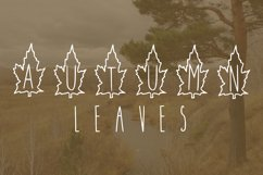 Autumn leaves font Product Image 1