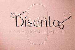 Disento Sensual Ligature Sans Serif Typeface Product Image 1