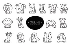 15 cute animals set clipart Product Image 3