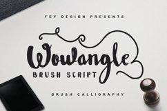Wowangle Brush Script (Bonus Font) Product Image 1