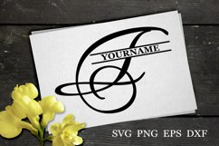 F Split monogram SVG Split letter svg Monogram font Product Image 1
