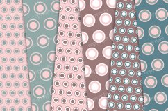 Red and green pastel circles digital background Product Image 3