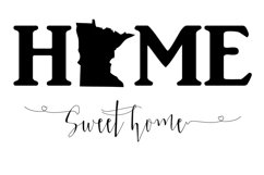Home Sweet Home Minnesota SVG File Product Image 1