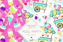 Summer Patterns, Unicorn Flamingo Digital Paper Product Image 2