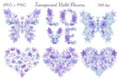 Transparent Violet Flowers Product Image 3