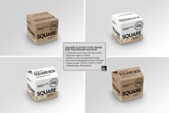 Square Slotted-Type Paper Box Packaging Mockup Product Image 6