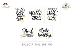 Happy New year cards svg. New Years eve. Hello 2021 svg. Product Image 1