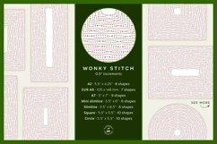 Stitched Nesting Shapes V2 Fancy Stitches   sketch foil SVG Product Image 6