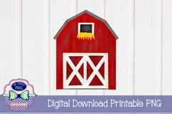 Watercolor Red Barn Product Image 1
