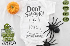 Don't Scare Me I poop Easily Ghost Halloween SVG Product Image 1