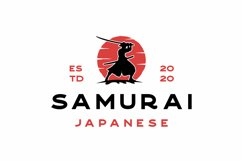 Vintage Samurai Logo Design Illustration Product Image 1
