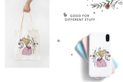 Cute blonde girl clipart on transparent background Product Image 2