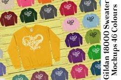 Gildan Sweatshirt Mockup 18000 Mock Up Black White Grey 943 Product Image 1
