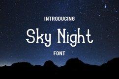 Sky Night Font Product Image 1