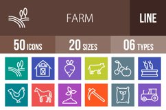 50 Farm Line Multicolor B/G Icons Product Image 1