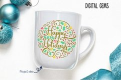 Happy Holidays, Christmas SVG / PNG / EPS / DXF files Product Image 3