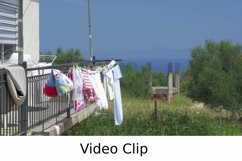 Video: Clothes Drying on the Balcony after Washing Product Image 1