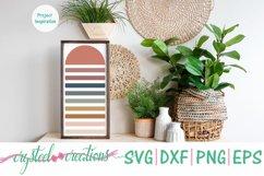 Half Sun Boho SVG, DXF, PNG, EPS Product Image 3