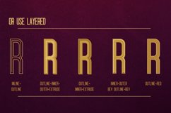 Oblivium Layered Font Family Product Image 3