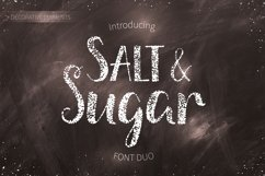 Salt & Sugar.Hand Drawn Font Duo Product Image 1