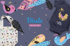 Magic birds with nibs in vector for baby staff svg, eps, png Product Image 1
