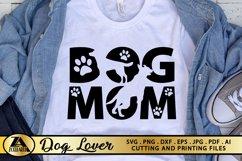 Dog Mom SVG Paw Prints SVG Dog Lover SVG Mothers Day SVG Product Image 1