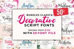 Bundles Classy & Decorative Script Fonts Product Image 1