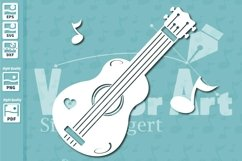 Ukulele Music Instrument - Cut File for Crafters Product Image 1